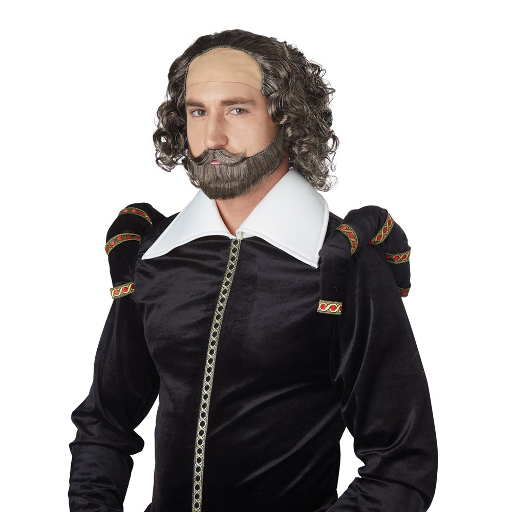 Mens William Shakespeare Costume Wig California Costumes CCC-70923