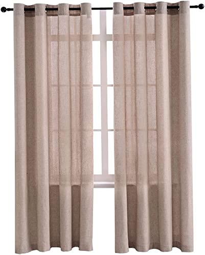 Burlap Linen Textured Curtain