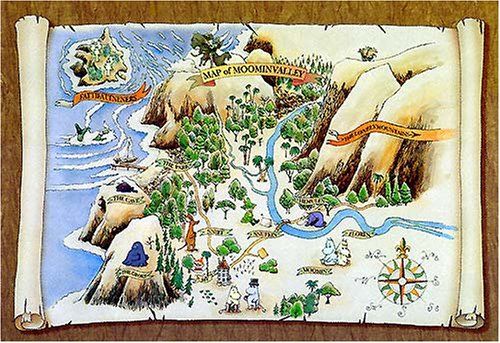1000 piece Moomin valley map 1 AS-1000-193 (japan import) by Kezuka slip sheet plant