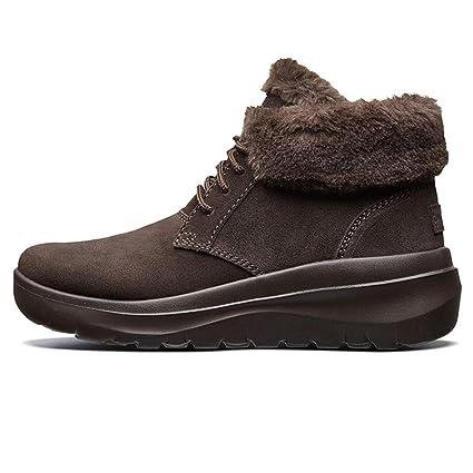 Zapatos para Caminar Zapatos de Mujer Botines de Terciopelo de Moda Botas de Nieve Ligeras Terciopelo