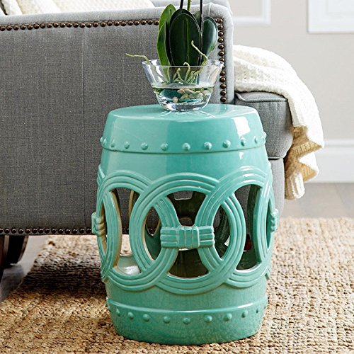 Abbyson Moroccan Turquoise Garden Stool by Abbyson