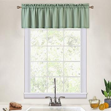 CAROMIO Valance Curtains for Kitchen, Waffle Woven Textured Valances for  Windows Rod Pocket Valances for Bathroom Cafe Kitchen Curtains, 60x15  Inches, ...