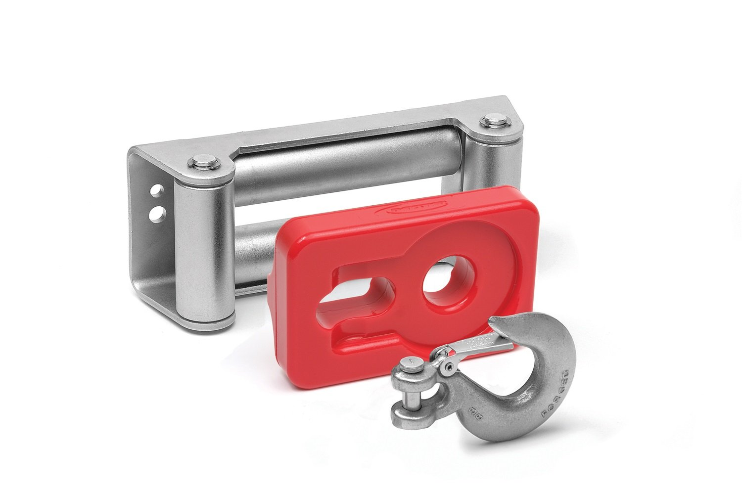 Daystar, Universal winch hook roller fairlead isolator, red, fits most 8k lb to 12.5k lb winches, KU70039RE, Made in America