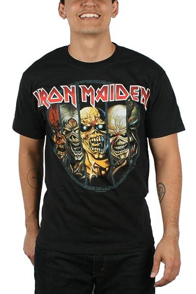 Iron Maiden - de Hombres Eddie Evolution - Camiseta en negro: Amazon.es: Ropa y accesorios