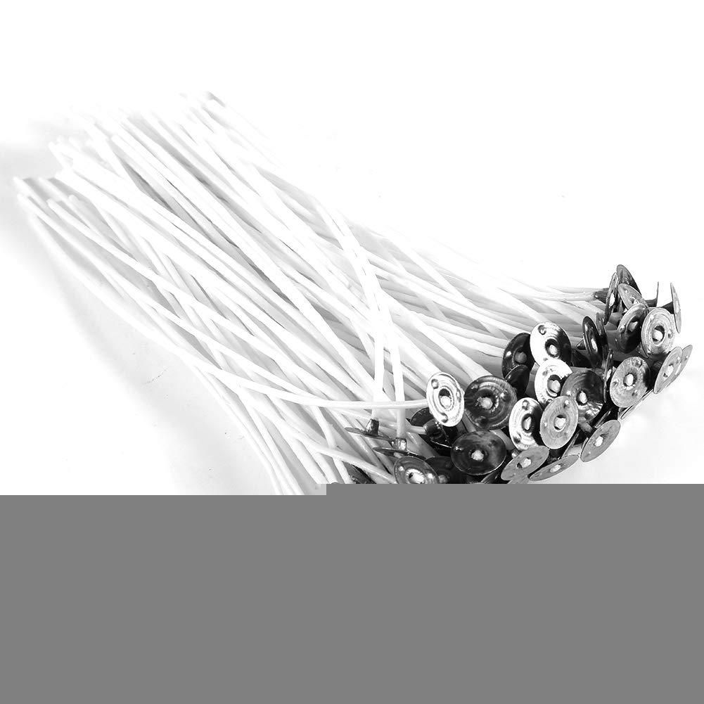 20cm Stoppini a Candela con inceratura w//Sustainer Cotton Core Fai-da-Te a Basso Fumo 14cm Pasamer 100Pcs 8//10//12//14//15