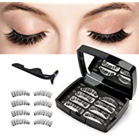 Magnetic Eyelashes Natural Look Handmade 3 Magnets Ultra Thin and Reusable False Eyelashes Best Fake Eye Lashes Light Weight and Easy to Wear