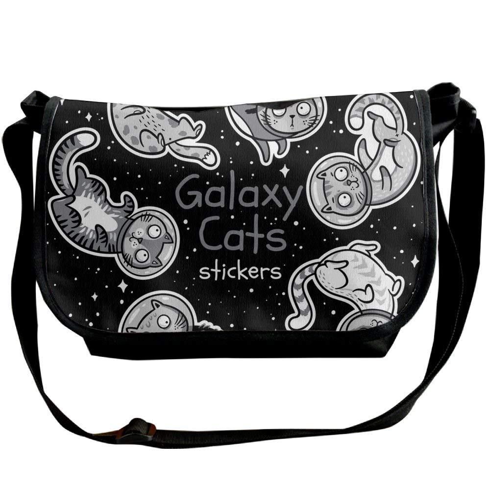 Messenger Bag,cats Astronauts,Unisex Adult Shoulder Backpack Cross-body Sling Bag Travel Bag