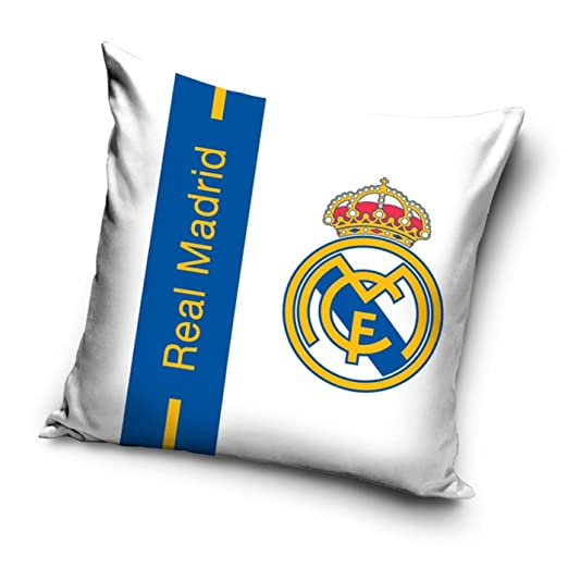 Real Madrid CF Cojín Relleno de rayas de color azul: Amazon ...