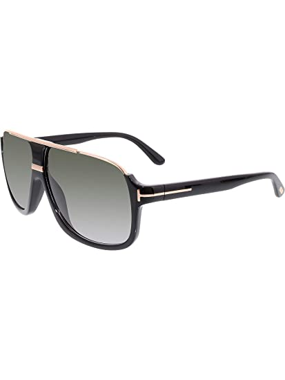 cfc96d376 Amazon.com: New Tom Ford Sunglasses Men Aviator TF 335 Black 01P Eliott  60mm: Tom Ford: Sports & Outdoors