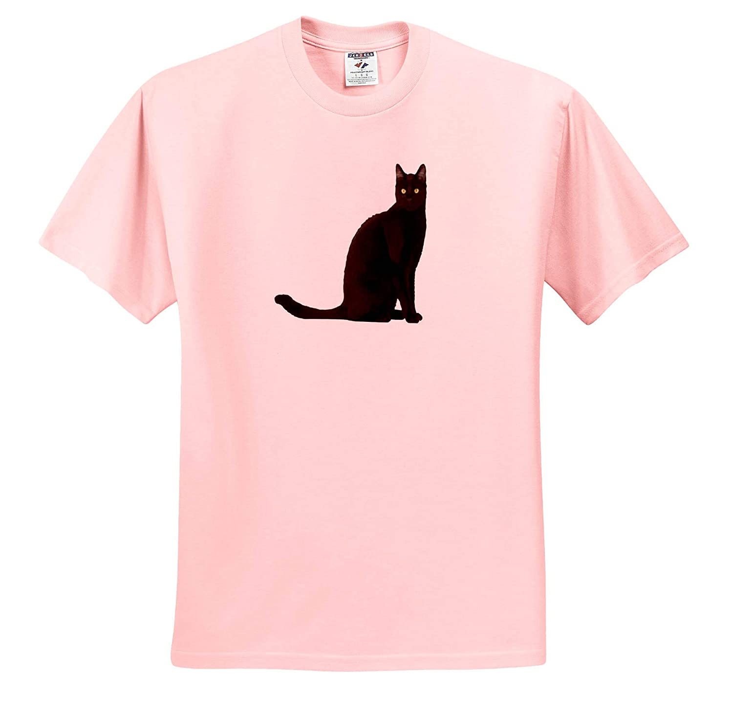 T-Shirts Black Cat 3dRose Taiche Feline Fun Black Cat Vector Vector
