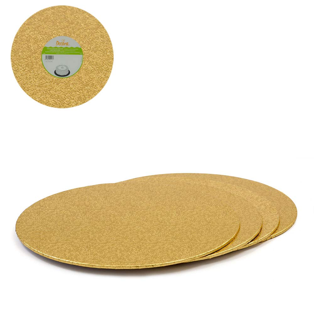 Cardboard 20 cm Gold//Silver Decora Coupled Doilies
