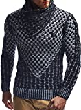 Product review for Leif Nelson LN5255 Men's Pullover With Faux Leather Accents