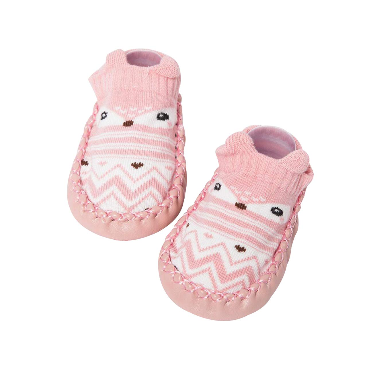 DEBAIJIA Baby Shoes Cotton Cloth Material Toddler Shoes Anti-Slip Animals Pattern Fashion Casual Prewalker Shoes Suitable for 6-36 Months Infant Slip-on Sporty Trainers Unisex