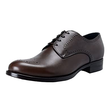 547d98232e3041 Amazon.com  Dolce   Gabbana Men s Brown Leather Derby Oxfords Shoes ...