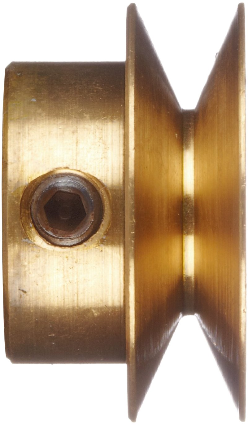 Brass 0.250 Face Boston Gear G1215 Grooved Pulley Fits Round Belts 0.1875 or Smaller