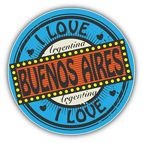 KW Vinyl I Love Buenos Aires City Argentina Label Truck for sale  Delivered anywhere in USA