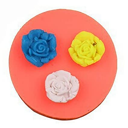 PIAGO 1 Pcs Mini Flower Fondant And Gum Paste Silicone Resin Candy Molds Cake Baking Tool Molds Cake Decoration Moulds