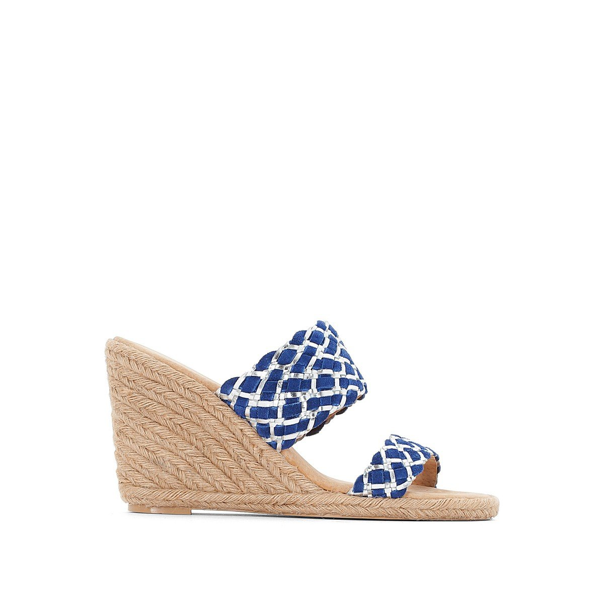 bas prix 880d1 c9e2e La Redoute Anne Weyburn Womens Suede Mules with Rope Wedge ...