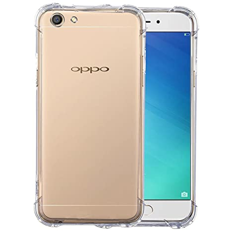 the best attitude 5b5fc 398e6 SHOPWAY™ Oppo F5 Back Cover, Flexible TPU Gel Rubber Soft Silicone  Protective Transparent Cover (Four Corner Protection, Clear)