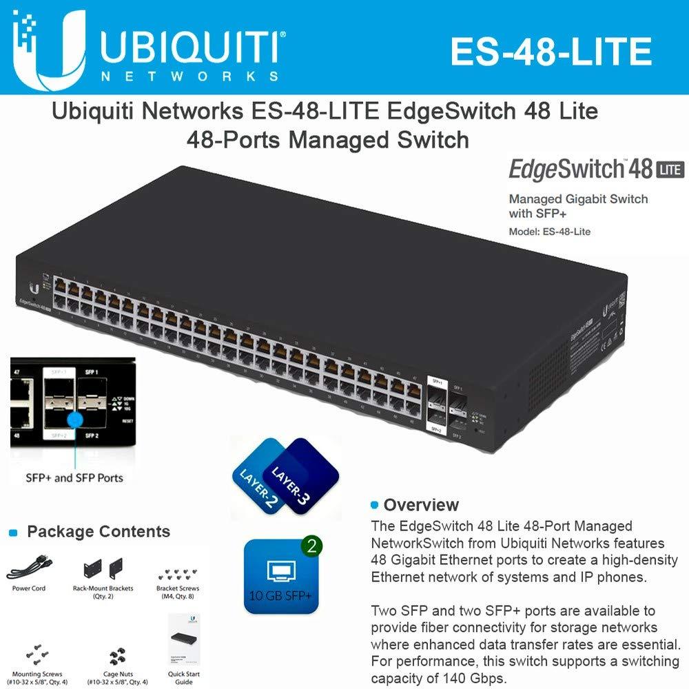 Ubiquiti ES-48-LITE 48-port + 2xSFP Gigabit + 2xSFP+ 10GbE switch 1U Rack 19'' by Ubiquiti Networks