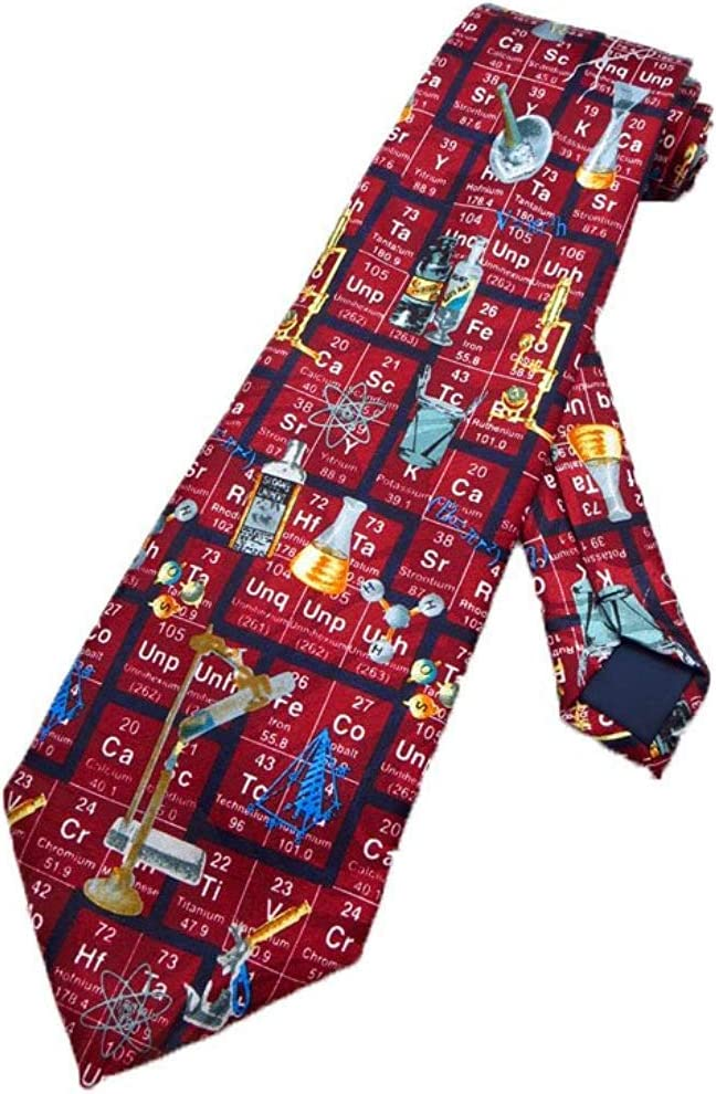 Corbata Para Hombre Tabla Periódica Corbata Química Corbata Roja ...