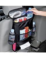 KAFEEK® Car Seat Organizer/Auto Seat Back Organizer/Multi-Pocket Travel Storage Bag/Insulated Car Seat Back Drinks Holder Cooler / Storage Bag Cool Wrap Bottle Bag with Mesh Pockets(Heat-Preservation)