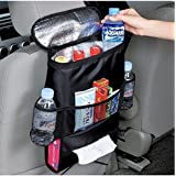 KAFEEK Car Seat Organizer/Auto Seat Back Organizer/Multi-Pocket Travel Storage Bag/Insulated Car Seat Back Drinks Holder Cooler / Storage Bag Cool Wrap Bottle Bag with Mesh Pockets(Heat-Preservation)