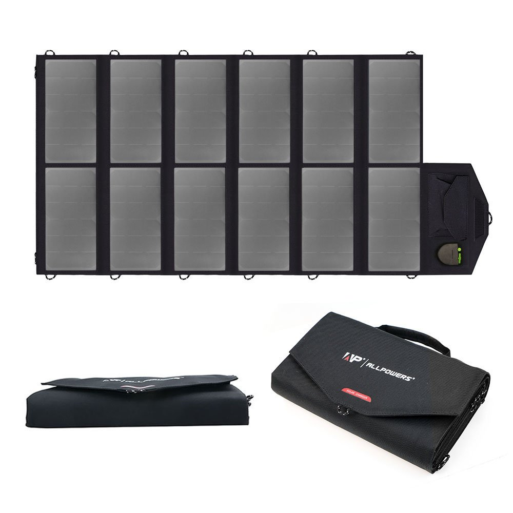 ALLPOWERS 80W Cargador Solar Plegable Panel Solar (USB dual 5V con la Tecnología iSolar + Salida de la CC 18V)...