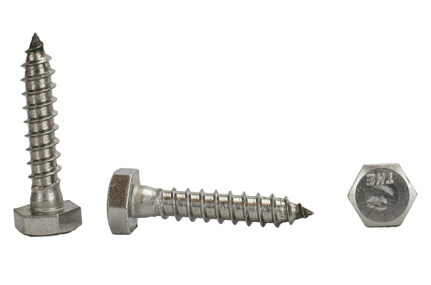 Stainless 1/4 x 1-1/4'' Hex Lag Screw (1'' To 5'' Lengths Available in Listing), 18-8 Stainless Steel, 50 pieces (1/4 x 1-1/4'')