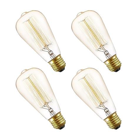 Bombillas Edison E27 de Seealle, 60 W, bombillas de rosca Edison de luz regulable