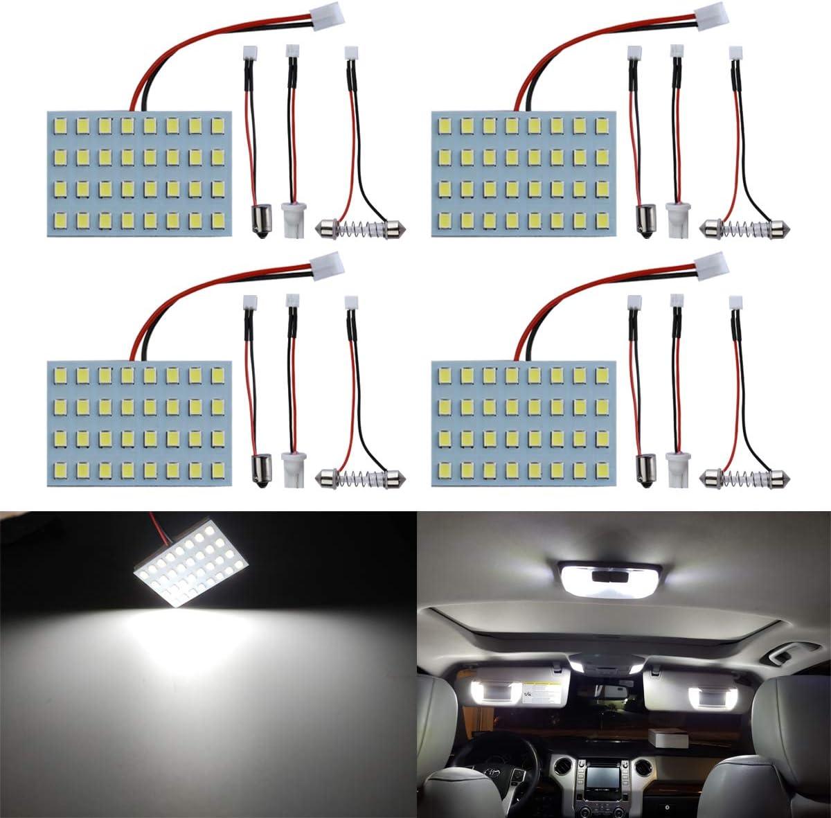 Car Interior Reading Dome Trunk Cargo Lights White LED T10 BA9S Festoon