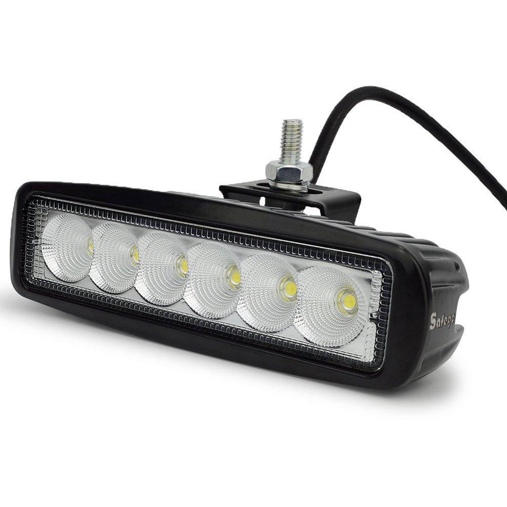 LED Lampes de travail 18W Lampes de brouillard Flood Projecteur LED V/éhicule Phare BAR pour Tout-terrain Chantier camions hors route Bateau camions de pompiers