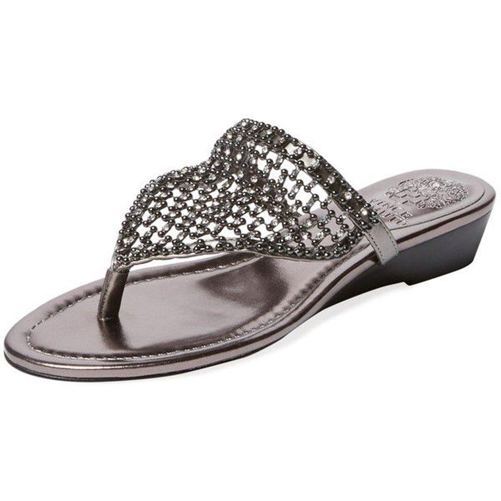 Vince Camuto Womens IMOMBO Sandal Steel,7.5