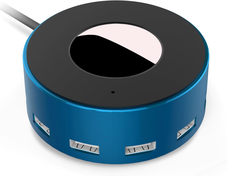 Vogek 6-Port USB Charger Desktop Charging Station with Smart Identification (Blue)