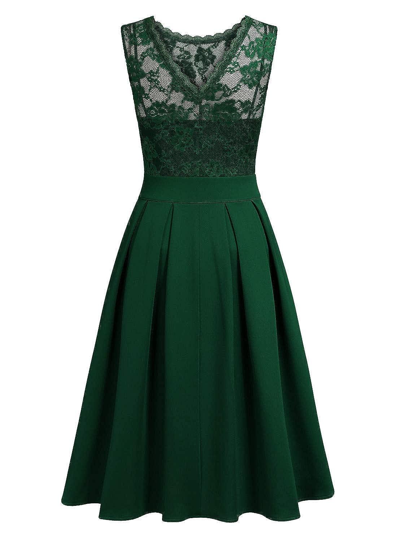 d39e81b042b Amazon.com  Miusol Women s Vintage Floral Lace Bridesmaid Party Dress   Clothing