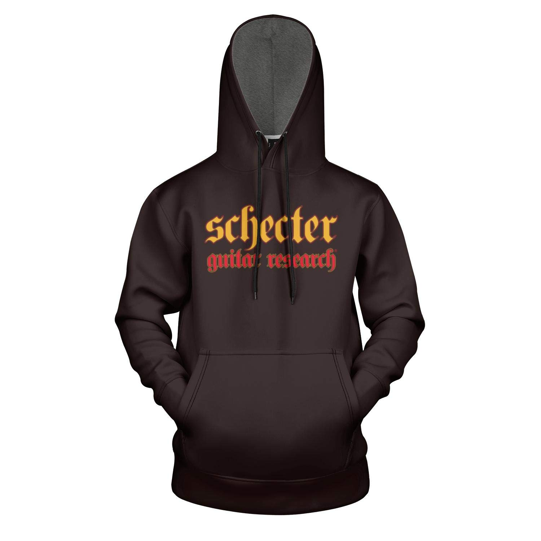 Schecter-Guitars-Logo- Sweatshirts for Mens Active Shirt Sweatshirt Loose Pullover Hoodie by Heart Wolf
