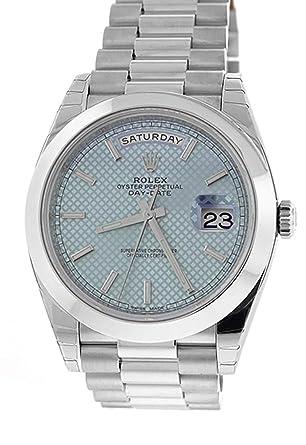 Amazoncom Rolex Day Date 40 Platinum Ice Blue Diagonal