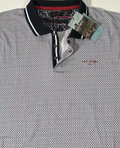 - Ted Baker Golf Men's BALATA White GEO Print S/S Polo Shirt XXL