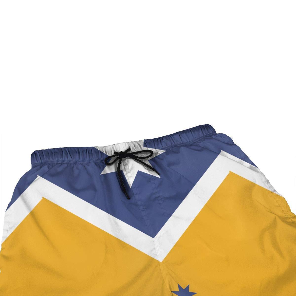Ling Lake Blue Yellow Australian Flag Mens Beach Shorts Board Shorts Summer Swim Trunks