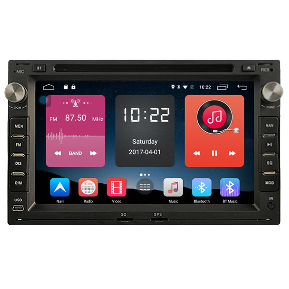 autosion in Dash Android 6.0車DVDプレーヤーラジオヘッドユニットGPSナビゲーションステレオfor VWパサートb5ゴルフBora Jetta Polo Lupo Transporter Sharan t5 FoxサポートBluetooth SD USBラジオOBD Wifi DVR 1080p B078BFYSJT