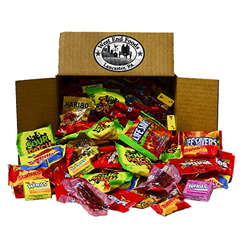 - Candy Treats (5 pounds) of Individually Wrapped Candy: Life Savers, Skittles, Starburst, Swedish Fish, Twizzlers, Nerds, Sour Patch Kids