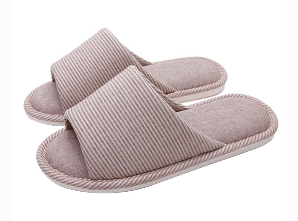 (Made By Cotton)Skidproof The Simple Style Of Home Slippers(Striped) Blancho Bedding