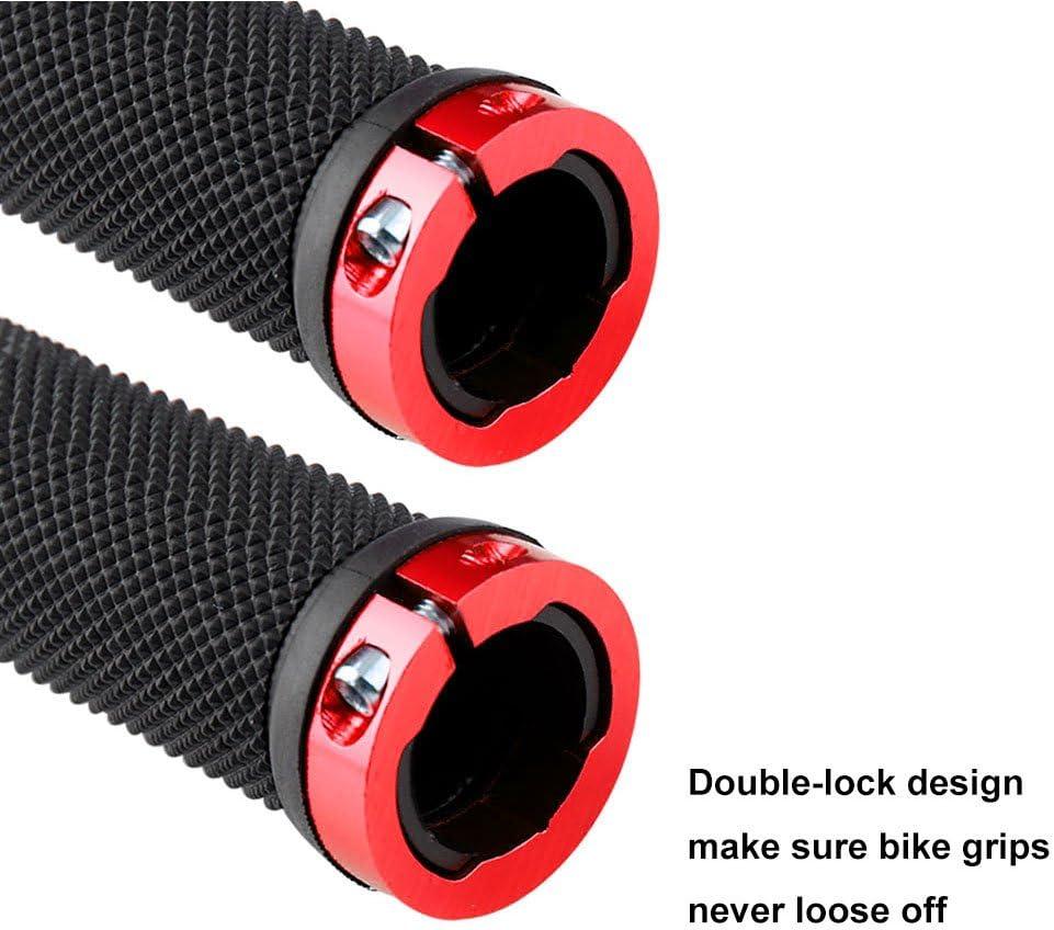 Dorado Pu/ños Manillar Antideslizante Ergonomicos Protector Manillar Bicicleta QitinDasen 2 Pares Premium Pu/ños Bicicleta para Mango de Di/ámetro 22mm Empu/ñadura BMX Pu/ños MTB