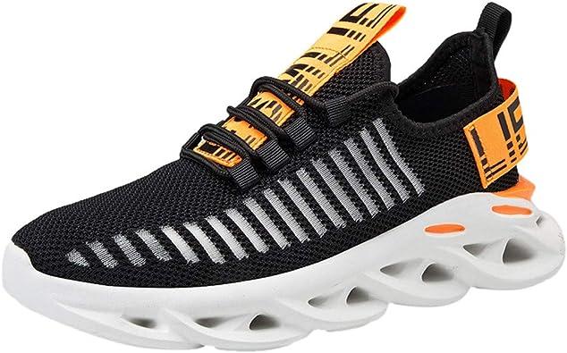 Mxjeeio Zapatillas Running para Hombre Aire Libre y Deporte Transpirables Casual Zapatos Gimnasio Correr Sneakers Suela giratoria 4D Zapatillas Antideslizantes Resistentes al Desgaste: Amazon.es: Zapatos y complementos