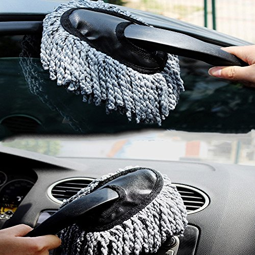 Multi Functional Super Soft Microfiber Car Dash Duster Car Interior And Exterior Cleaning Dirt Dust Tool Home Use Dusting Brush Gray