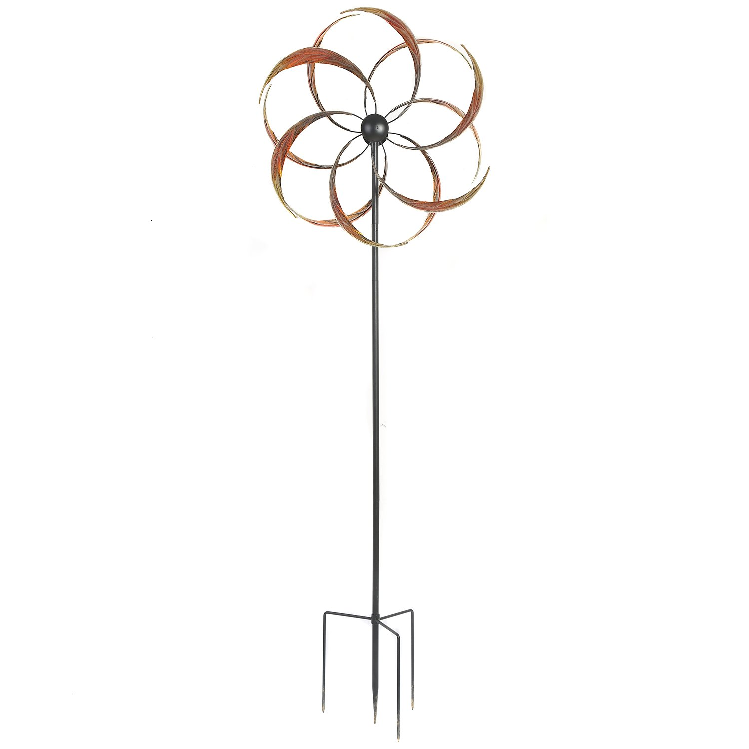 Wind Spinner Twirler Sculpture Garden Stake Outdoor Metal Stick Art Ornament Figurine Decor for Lawn Yard Patio by CEDAR HOME, 23''W x 10.25''D x 75''H
