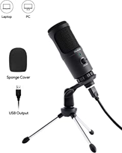 USB Microphone, Condenser Microphone for Computer Windows & Mac, Professional Plug & Play PC Laptop Microphone for Recording Voice Overs, YouTube Videos, Streaming, Gaming, Chat