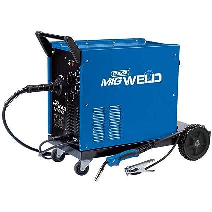 Draper MW190T 180 Amp Gas/Gasless Turbo Mig Soldador, Azul