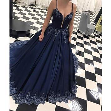 Bingqz Noche Vestidosvestidos De Noche Azul Marino Oscuro
