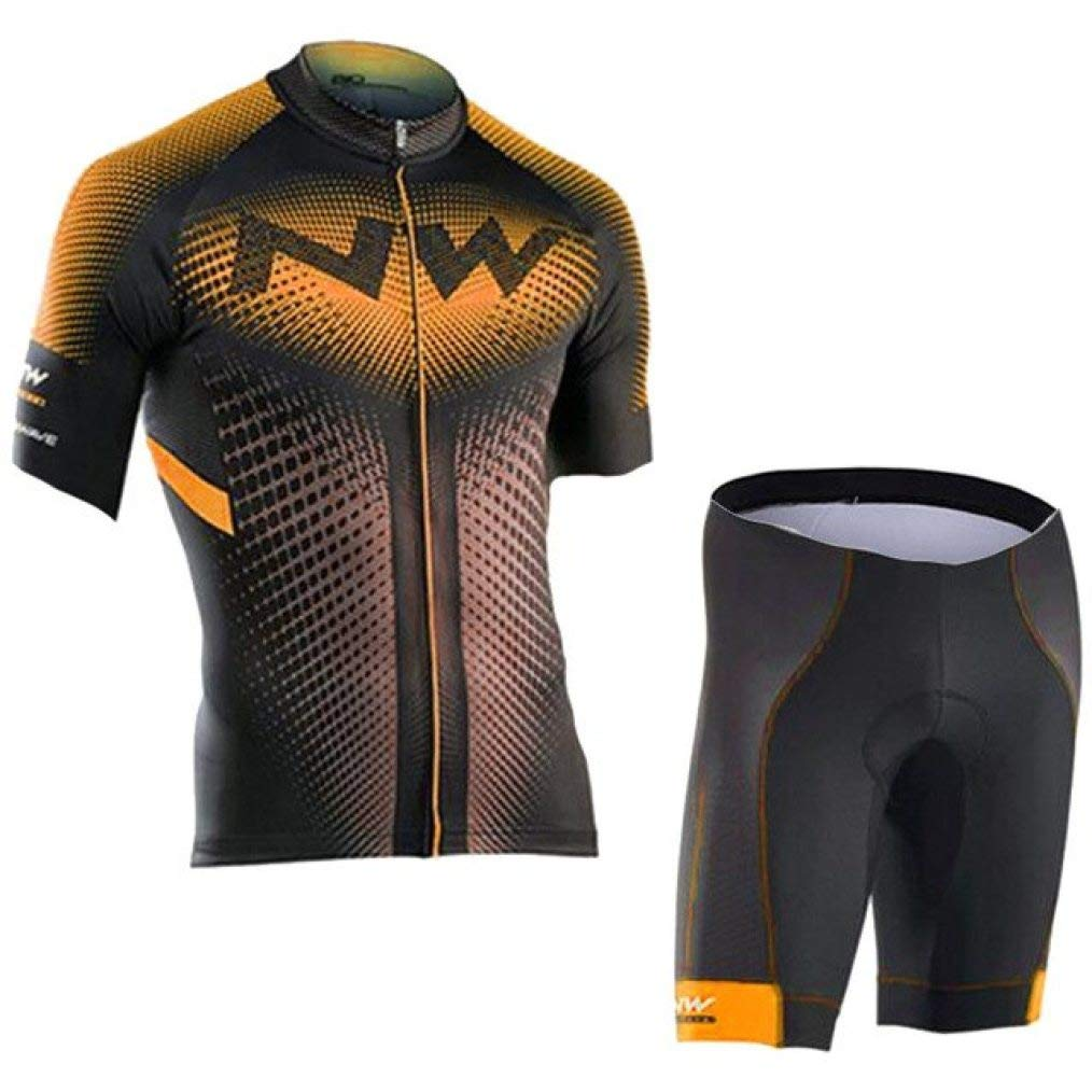 10 Large Rzxkad Men Short Sleeve Cycling Jersey Suit Full Zip Moisture Wicking UV Predective Cycling Cloting Shorts
